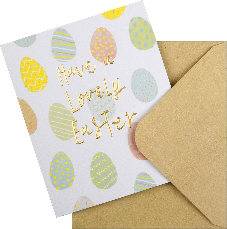 Dise/ño de texto en relieve Tarjeta de Pascua de The Hallmark Studio