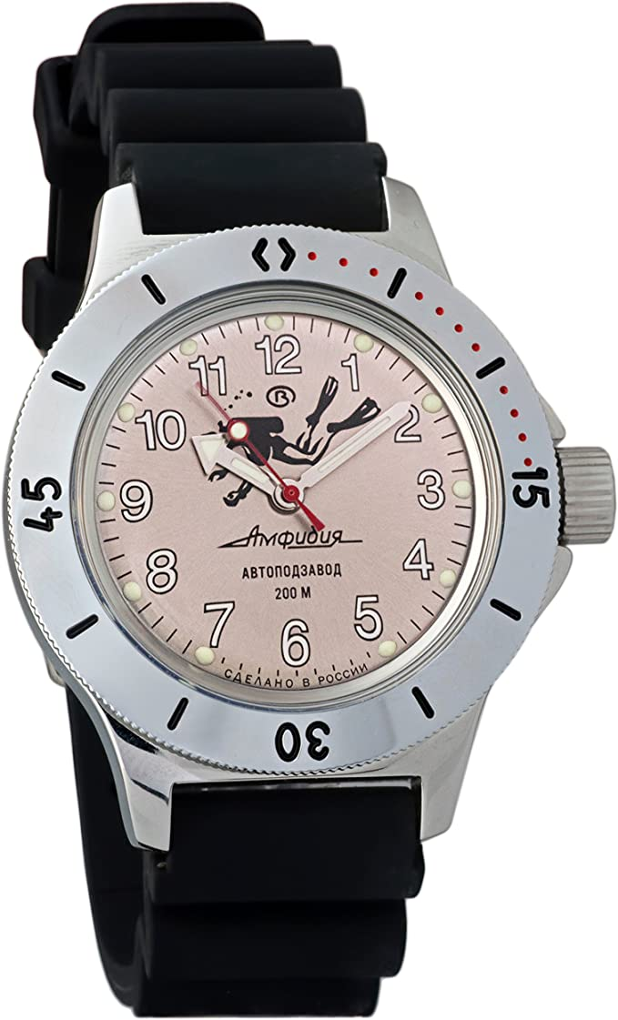Vostok Amphibian 120658 - Reloj de pulsera para buceadores