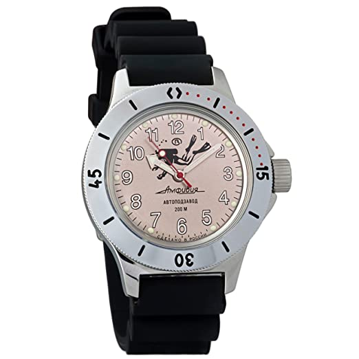 Vostok 2415 de anfibios 120658 Militar ruso reloj mecánico: Amazon.es: Relojes