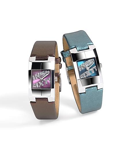 Miss Sixty Just time SDA002 - Reloj de mujer de cuarzo, correa de piel color morado: Amazon.es: Relojes