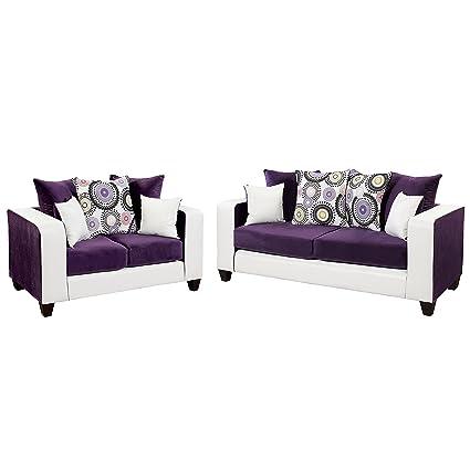 Amazon.com: Flash Furniture Riverstone Implosion Purple Velvet ...