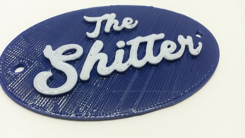 Amazon.com: La Shitter Agua Closet – cartel para puerta de ...