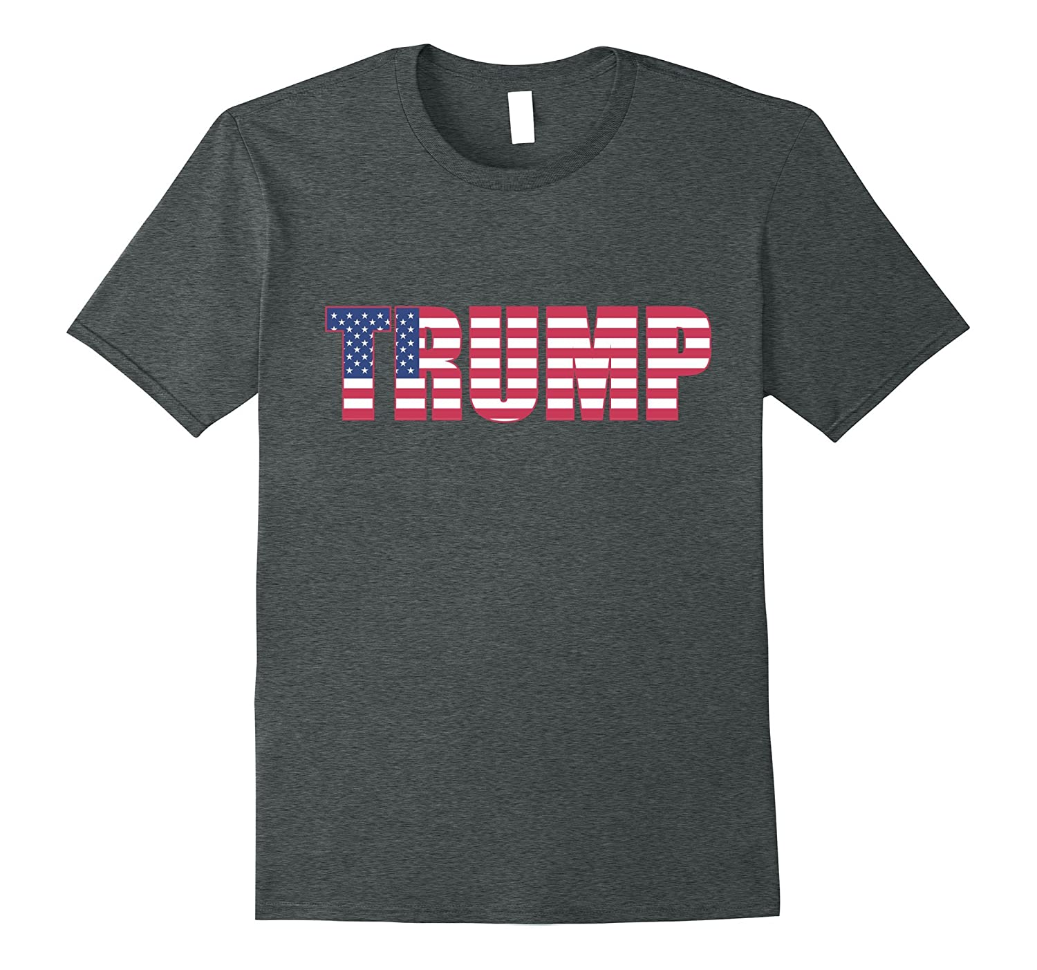4th of July Independence Day US Flag Pro Trump T-Shirt Tops-Art