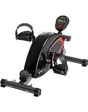 SportPlus - Mini Vélo d'Appartement - Ordinateur d'entraînement - Freinage magnétique silencieux - 8 Niveaux de Résistance - Adapté aux Personnes âgées - Pour la Maison et le Bureau - Sécurité testée