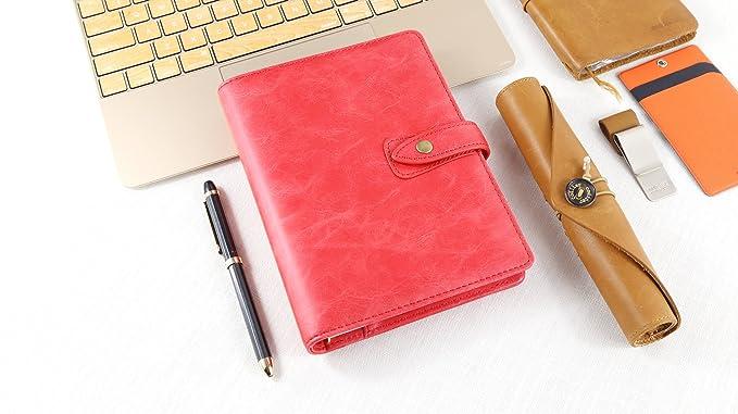 Amazon.com: aozhou B6 Thermo PU hojas sueltas cuaderno de ...