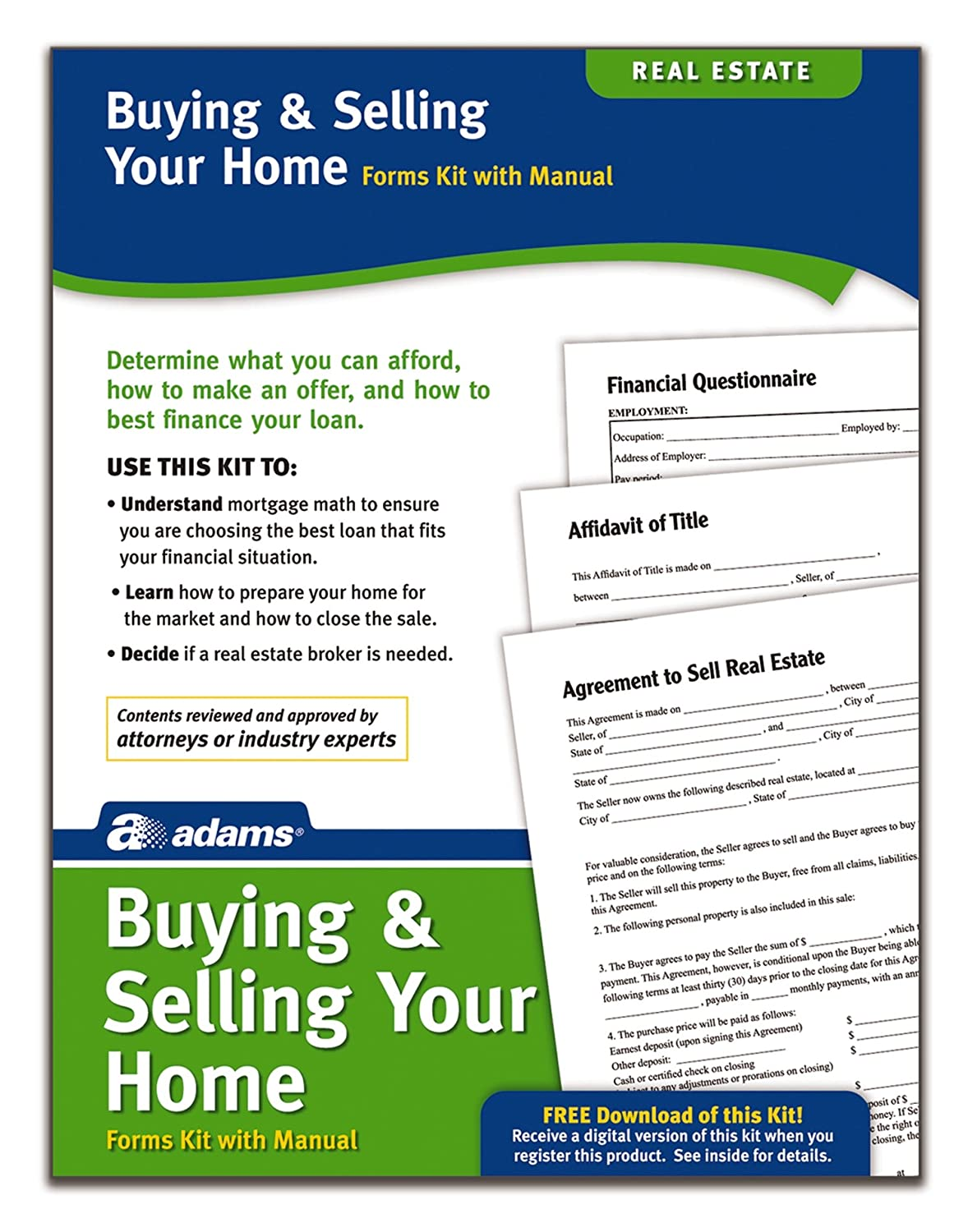Amazon Adams Buyingselling Your Home Kit Forms And