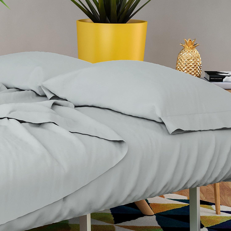 Novogratz Futon & Twin Sleeper Sofa Sheet Set - Brushed microfiber 90 GSM - Wrinkle free, smooth & comfy - 4 Piece (Grey)