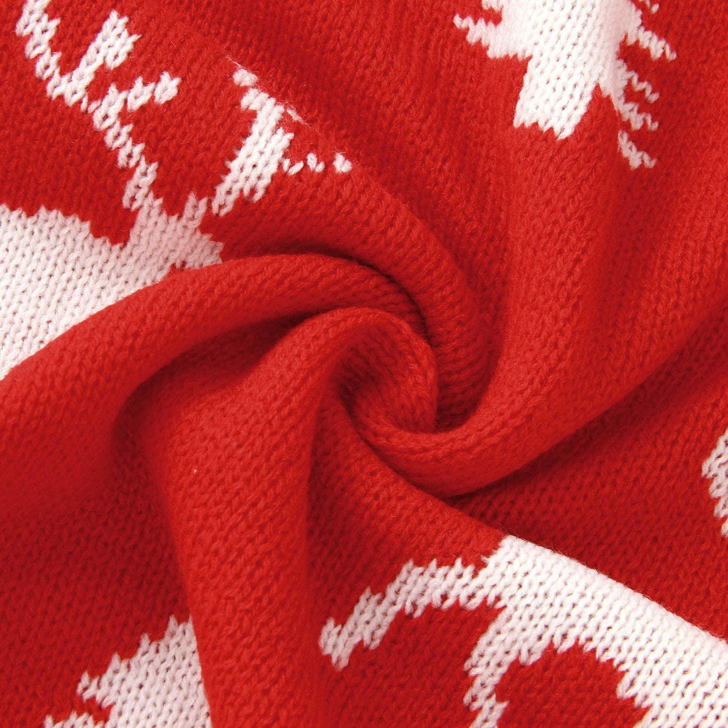 100 x 80cm mimixiong Baby Blanket Christmas Knitted Reindeer Blankets Red