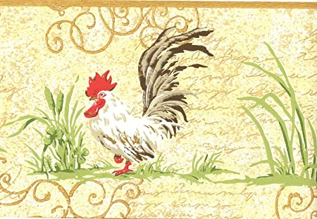 Wallpaper Border Chickens Roosters