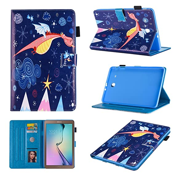 watch fa5c6 c27fd Samsung Galaxy Tab E 9.6 SM-T560 Folio Case - Monstek Slim Fit Protective  Leather Wallet Flip Case for Samsung Tab E 9.6-Inch Tablet (NOT for ...