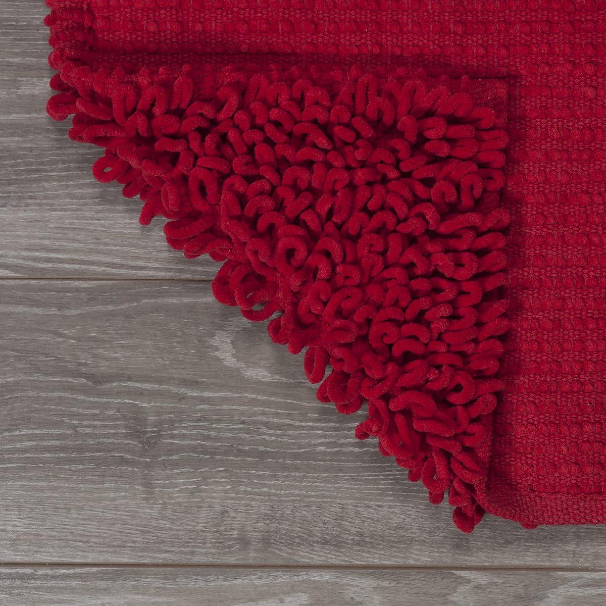 Sealskin Badteppich Twist Rot Tapis de Bain 90 x 60 x 3 cm Tissu