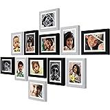 Ajanta Royal Classic Set of 12 Individual Photo Frames (12-6x8 Inch) (Black-White) : A-29AC