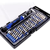 60 in 1 Kit Cacciavite Magnetico, Set di Punte Cacciavite di precisione con 54 Punte, Kit Riparazione Professionale componenti Elettronici per iPhone/ Cellulari/ iPad/ Tablet/ PC/ MacBook e altri disp