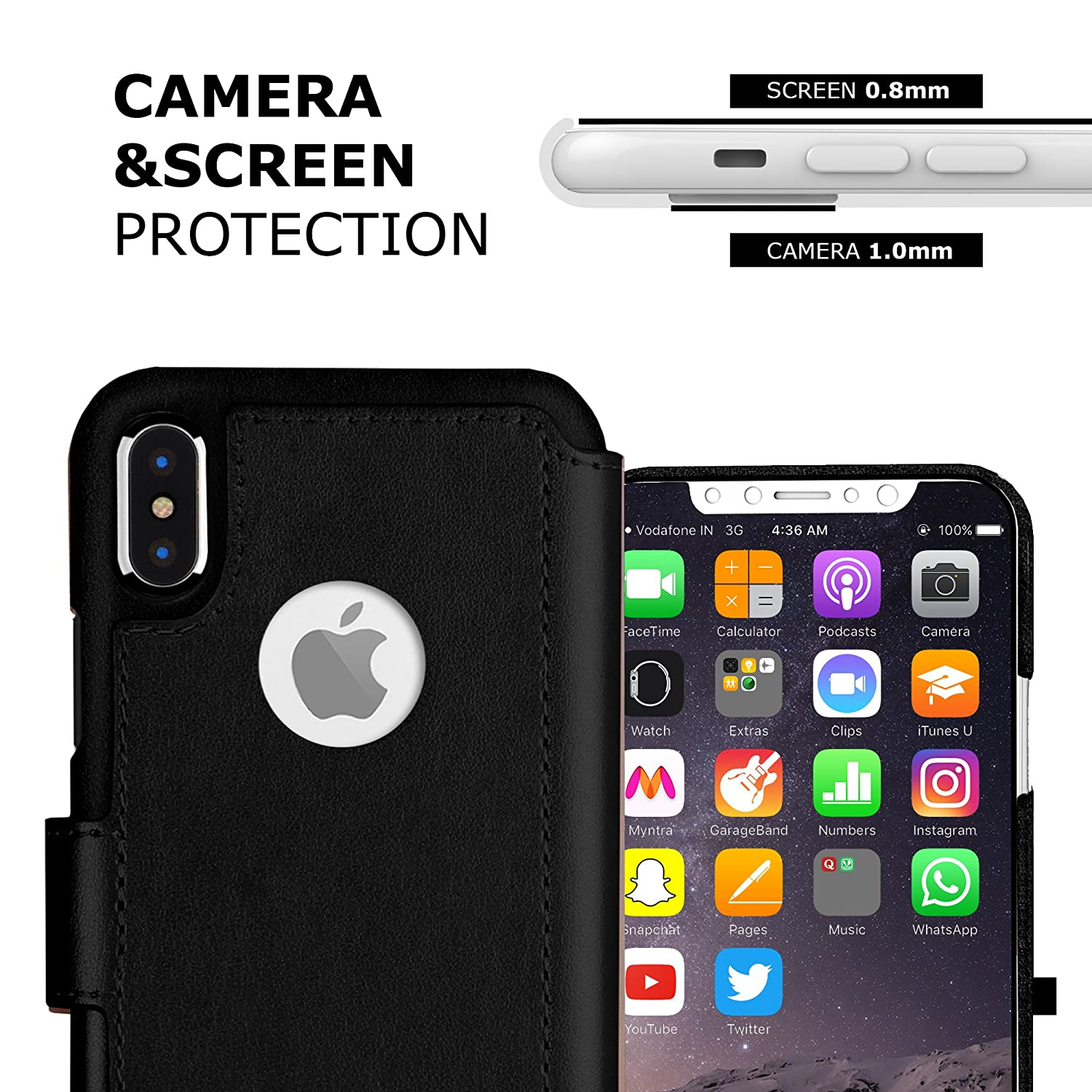 Black Durable and Slim LUPA iPhone Xs Max Wallet case for Apple iPhone Xs Max Faux Leather Lightweight with Classic Design /& Ultra-Strong Magnetic Closure
