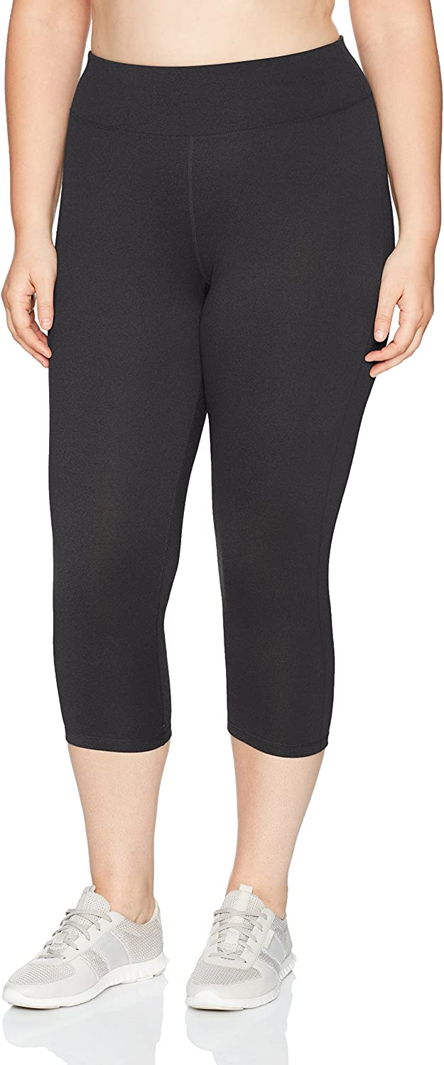 JUST MY SIZE Women's Plus Size Active Stretch Capri at  Women's Clothing store
