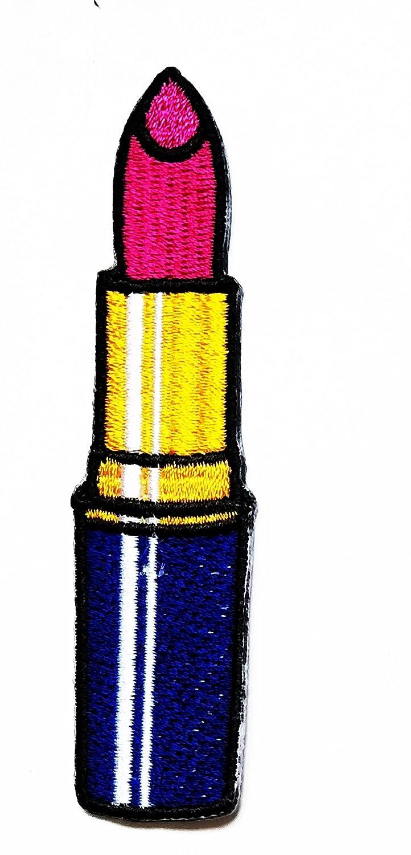 nipitshopパッチレディースKissピンク唇口紅Cosmeticカートゥーン子供服バックパックTシャツジーンズスカートVestsスカーフ帽子バッグ B07B6M7HM5
