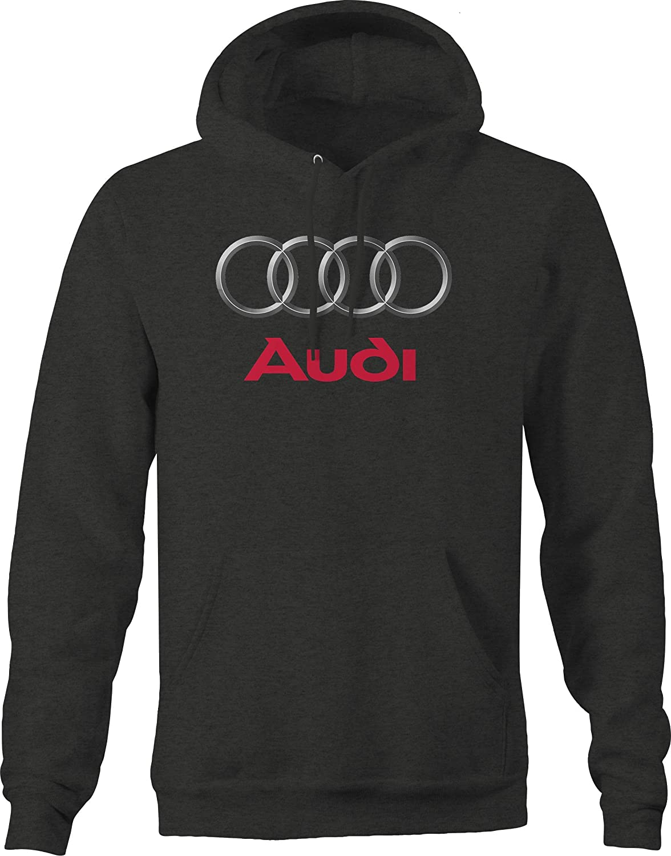 Audi Rings Emblem Logo Hooded Sweatshirt