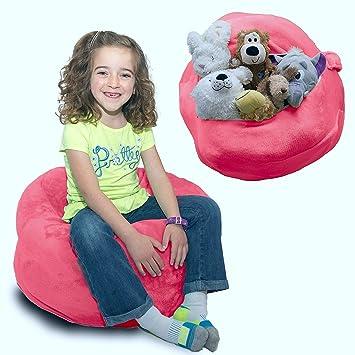 softest stuffed animal storage bean bag chair    fy plush fabric kids love   6 colors amazon     softest stuffed animal storage bean bag chair    fy      rh   amazon