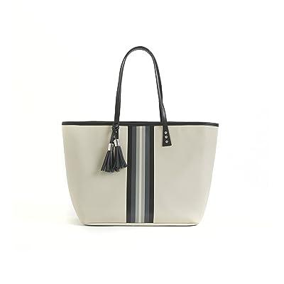 cinda b. Luxe Medium London Tote, Python/Off White, One Size