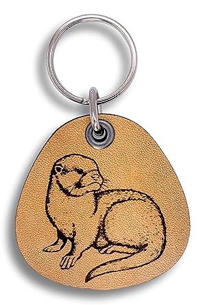 Amazon.com: ForLeatherMore – Otter – Llavero de piel ...