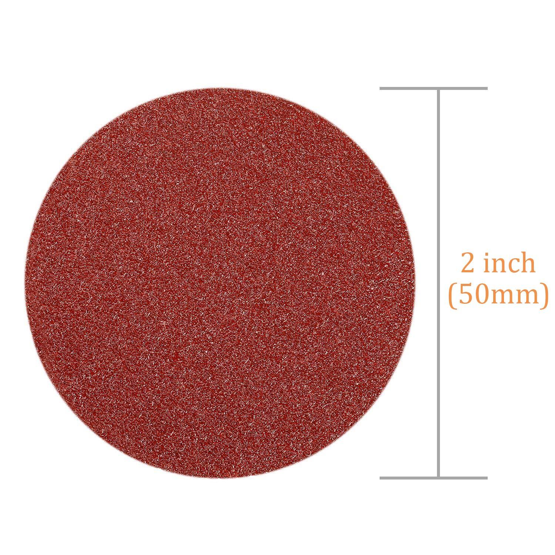 Sanding Discs Pads for Random Orbital Sander WENTS 100Pcs 50mm Wear-Resistant Sandpaper 80//100//180//240//600//800//1000//1200//2000//3000