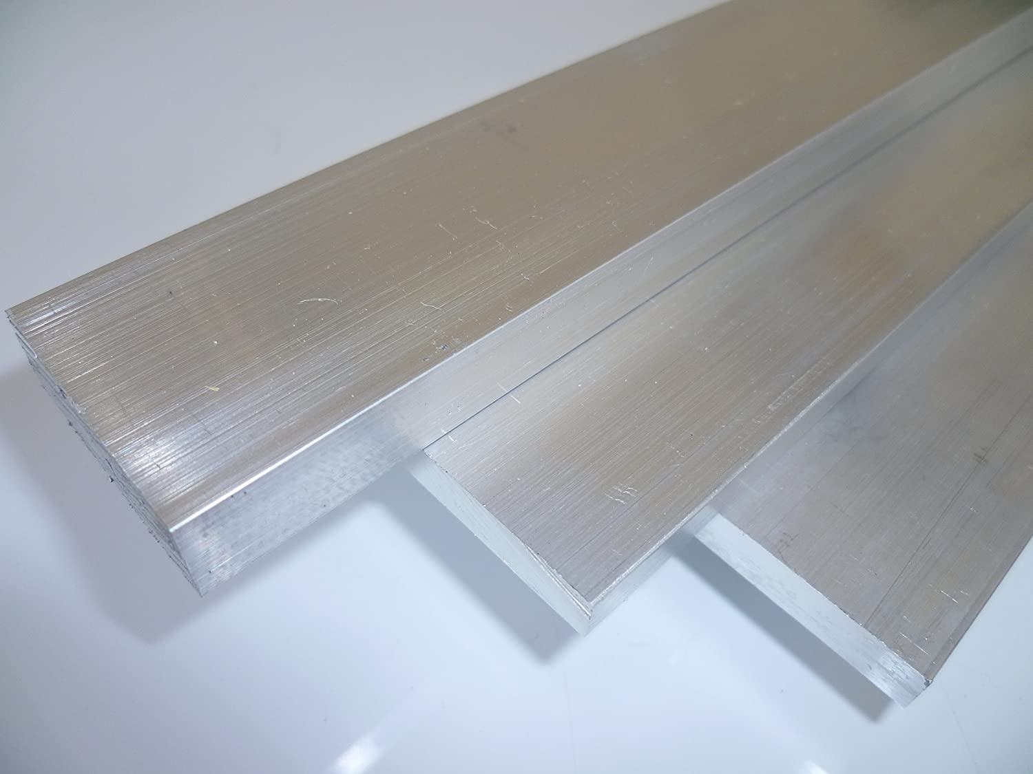 B&T Metal aluminium flat 2.36 x 0.16 inches weldable, suitable for anodising in lengths of approx. 78.74 +0/-0.12 inches.