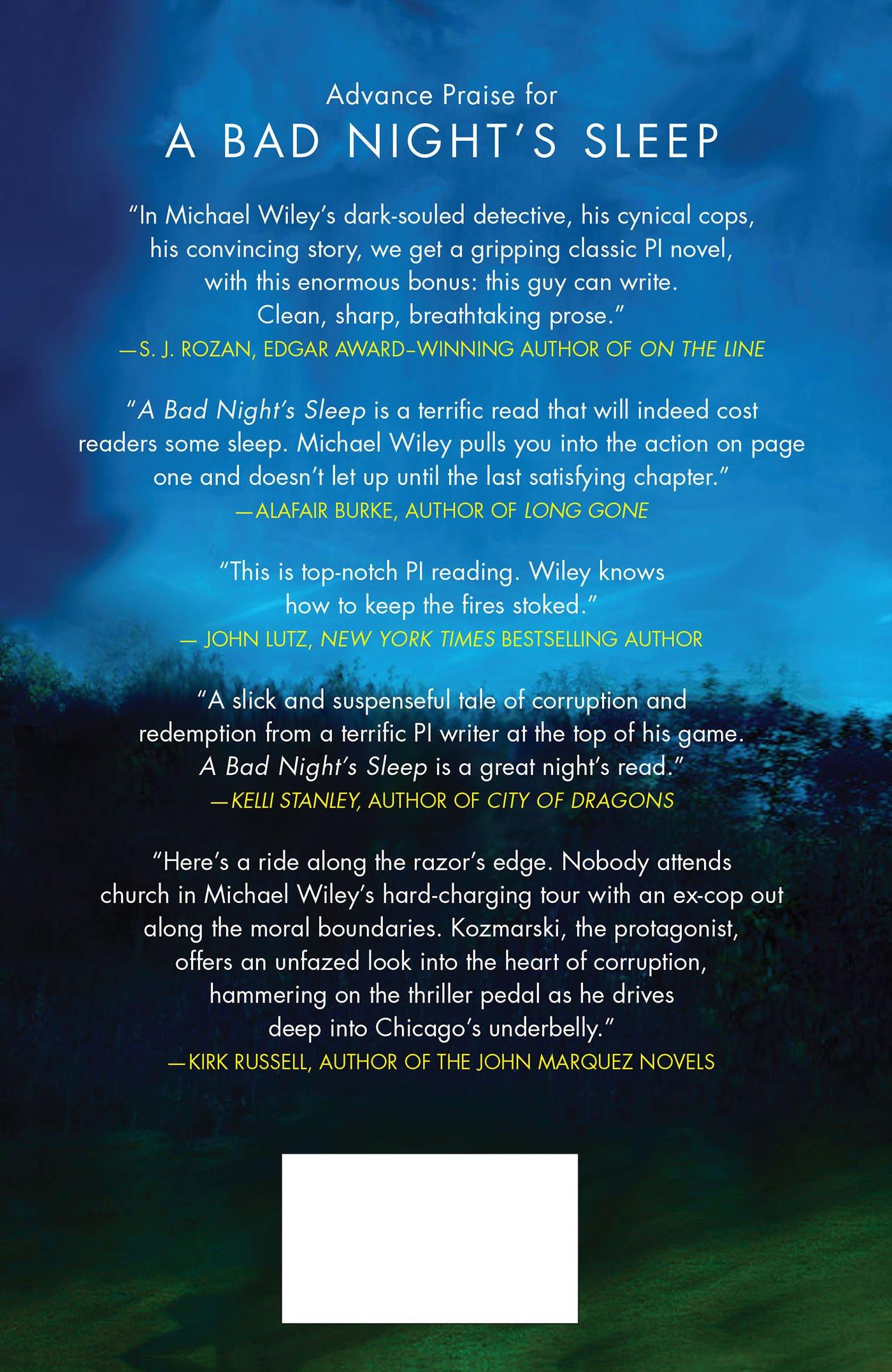 A Bad Night's Sleep: A Mystery (joe Kozmarski Series): Michael Wiley:  9780312552244: Amazon: Books