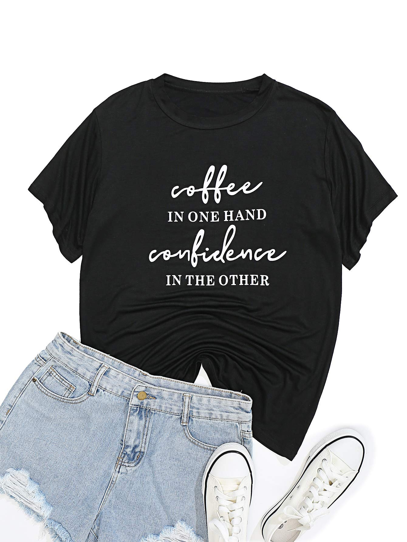 Womens Funny Letter Print Cute Graphic Tops Tees Casual Short Sleeve Vacation