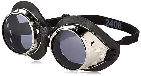 461e6b6d54 Amazon.com  Classic Round Lens Moto Goggles Motorcycle MX Vespa Jeep ...