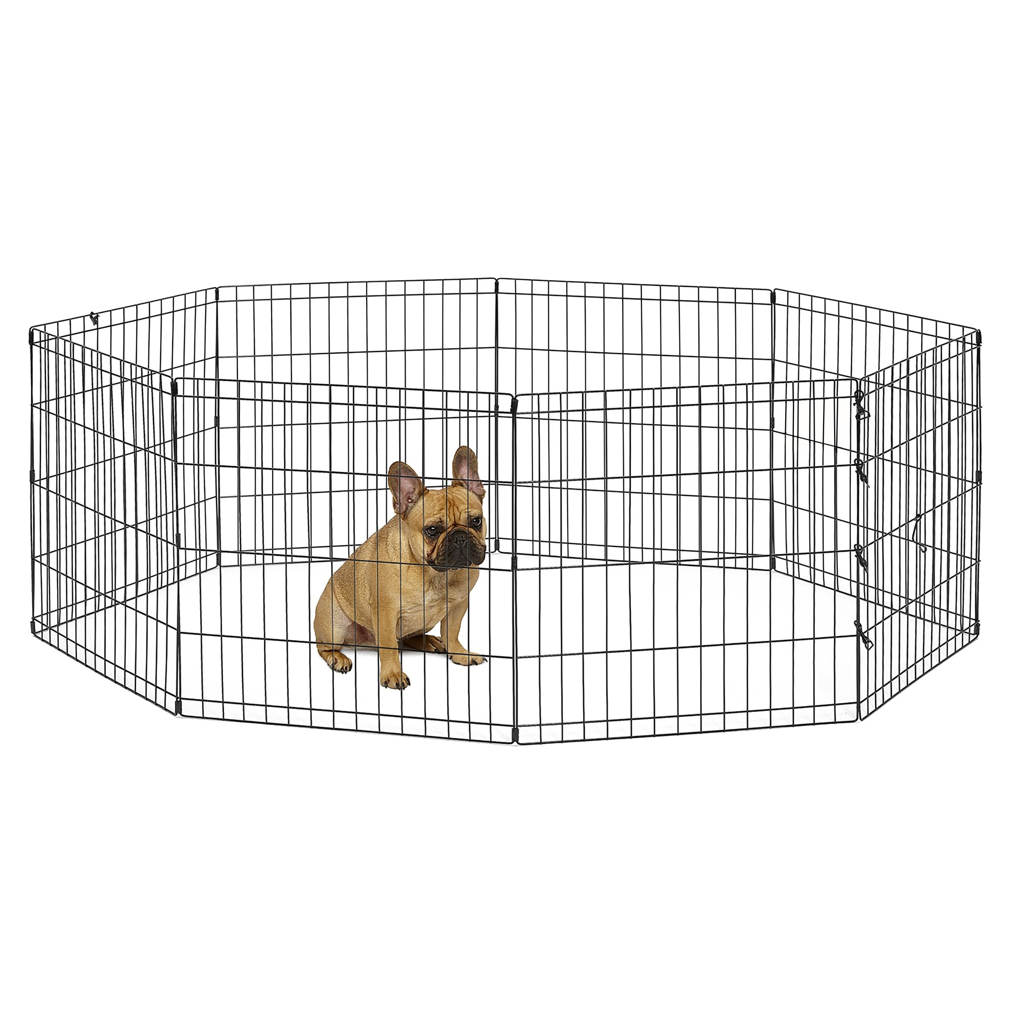 New World Pet Products B550-24 Foldable Exercise Pet Playpen, Black, Small/24'' x 24''