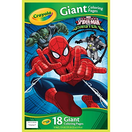 Amazon.com: Crayola Marvel Spiderman Giant Coloring Pages: Toys & Games