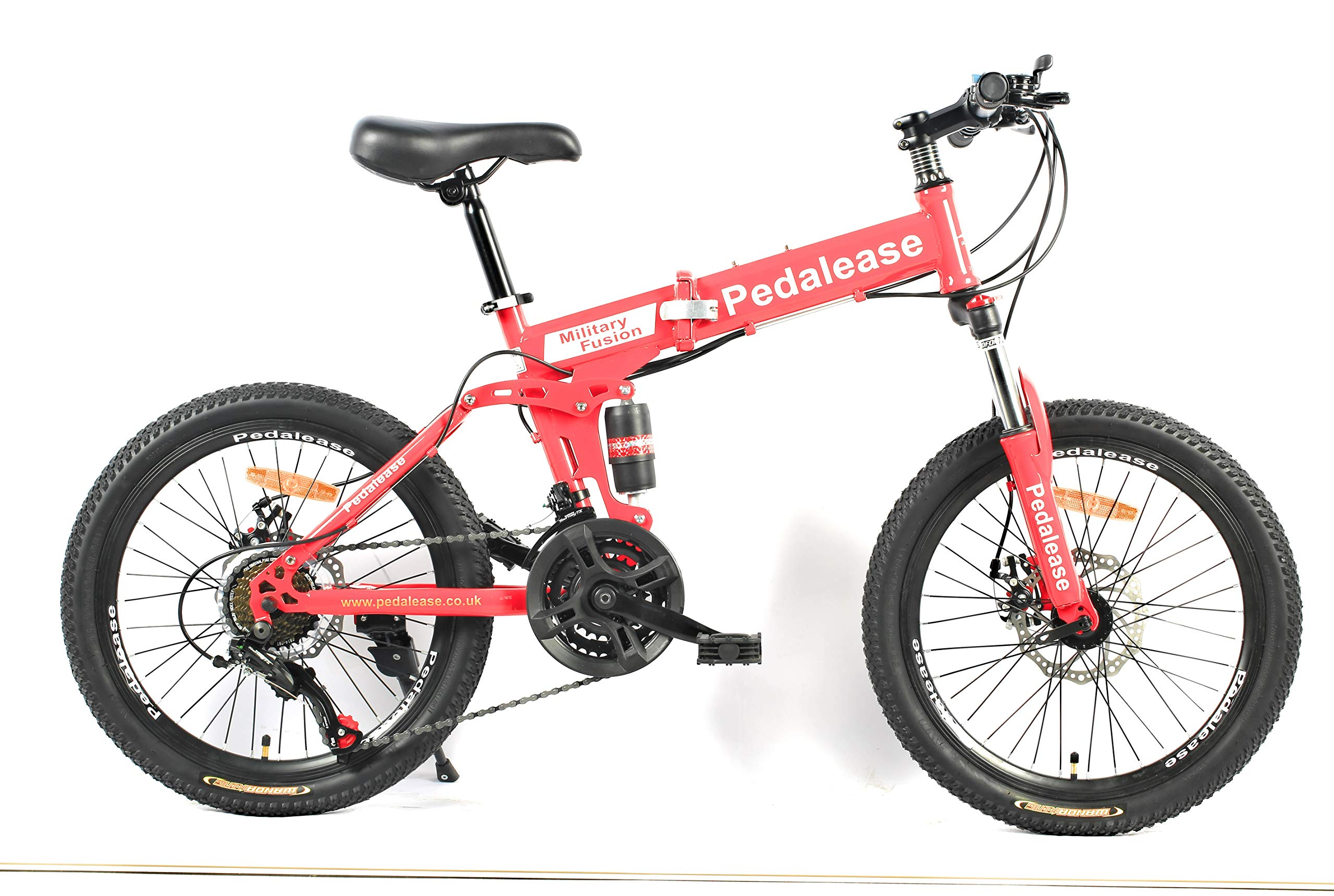 PedalEase Military Folding Mountain Bike Red Colour 20 inch Wheels product image