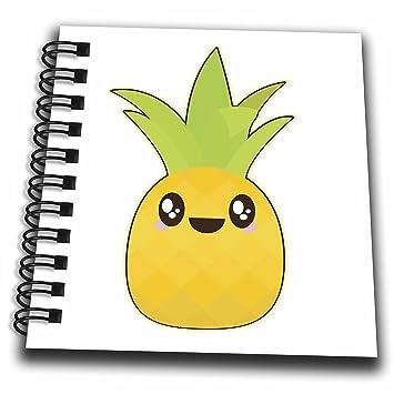 Amazon Com 3d Rose Cute Kawaii Cartoon Fruit Pineapple Mini Notepad