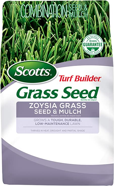 Scotts Turf Builder Grass Seed Zoysia Grass Seed and Mulch