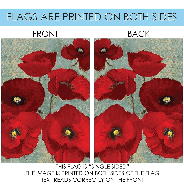 Toland Home Garden 119872 Red Painted Poppies Garden Flag