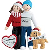 Personalized Christmas Ornaments 2021 Family and Pets – Charming Family Christmas Ornaments with Furry Friends Dog Ornament –