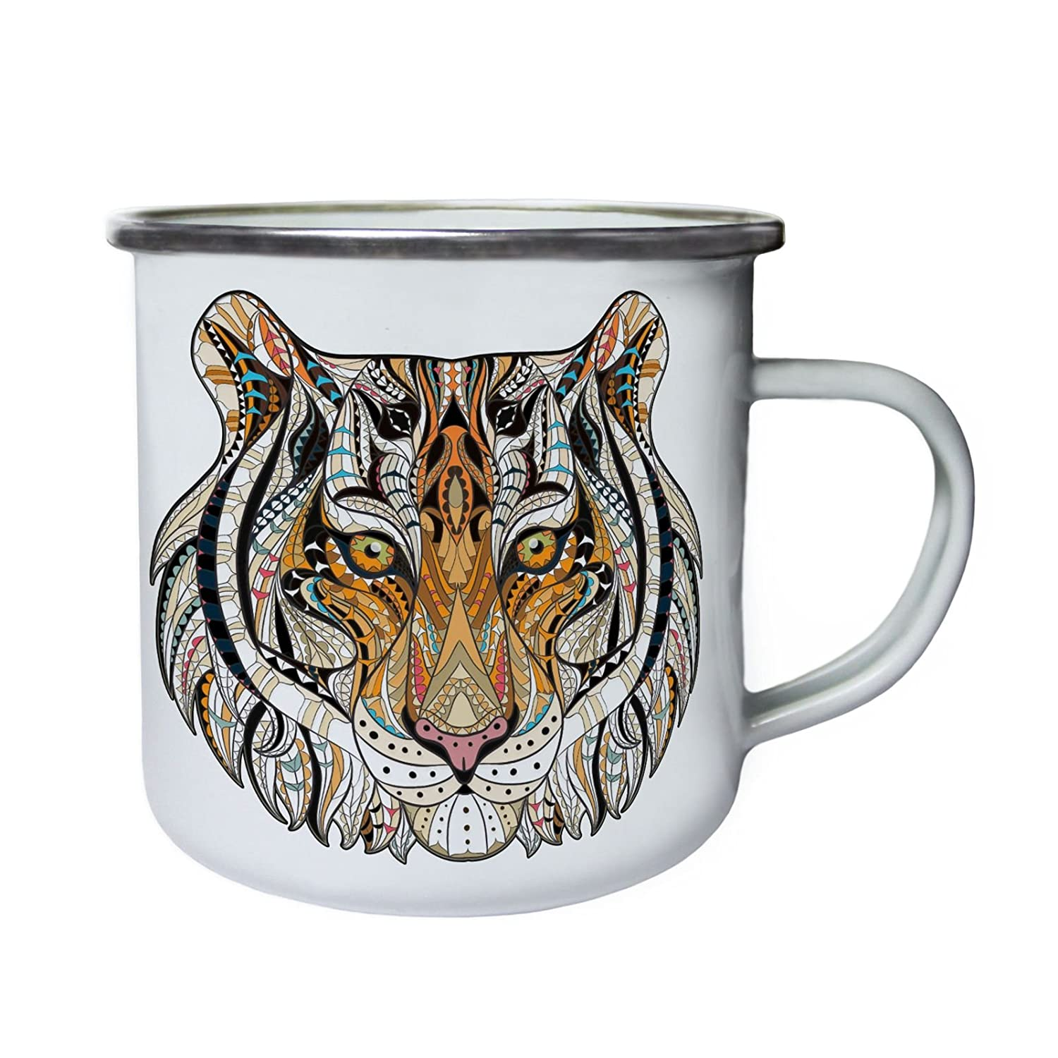 Ethnic Collection Lion Retro, lata, taza del esmalte 10oz/280ml z396e INNOGLEN