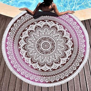 Stillshine Redondo Microfibra Toallas playa grande,Alfombra para bebé, mandala microfibra esterillas Yoga manta