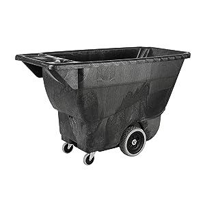 Rubbermaid Commercial Polyethylene Box Cart, 450 lbs Load Capacity, Black, (FG9T1300BLA)