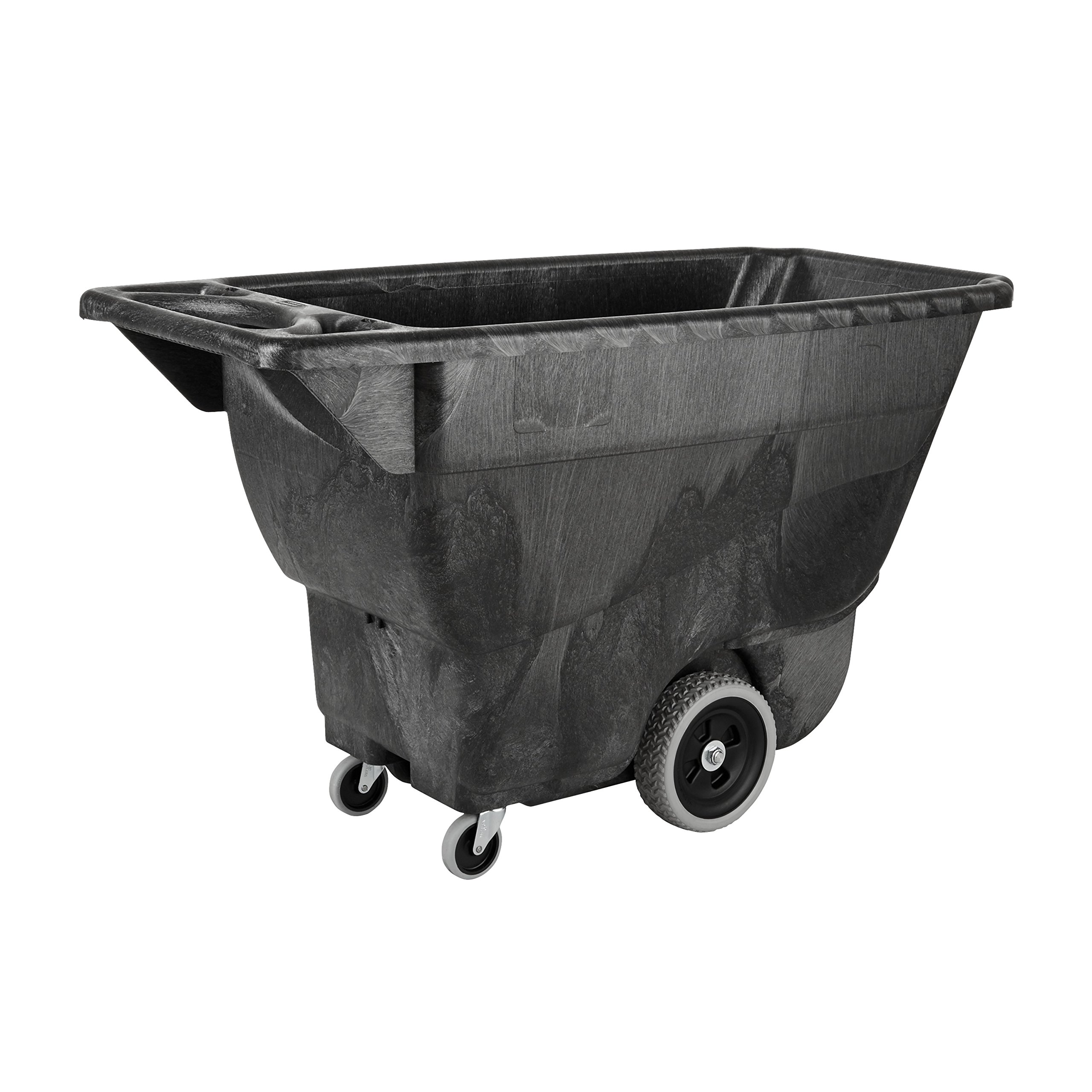 Rubbermaid Commercial Polyethylene Box Cart, 450 lbs Load Capacity, Black, (FG9T1300BLA)