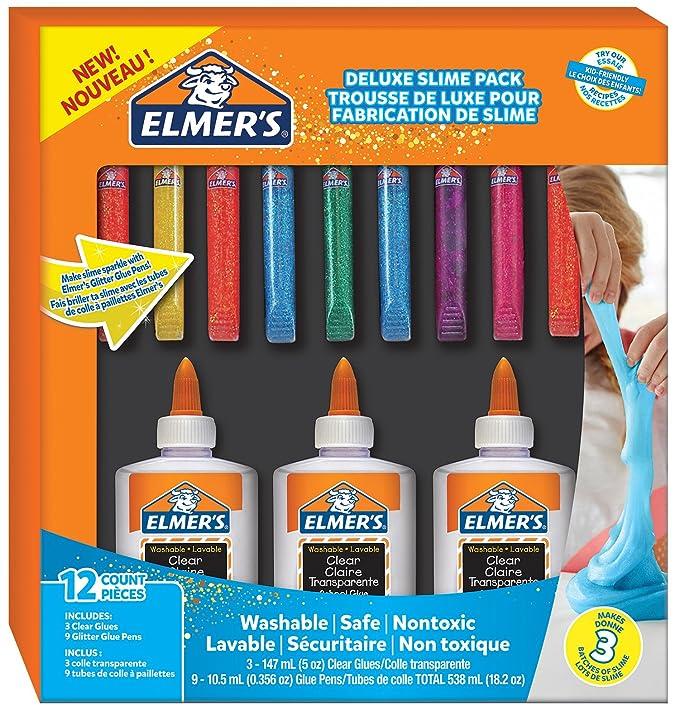 Elmers glue deluxe kit clear school glue glitter glue pens 12 elmers glue deluxe kit clear school glue glitter glue pens 12 count amazon office products ccuart Gallery