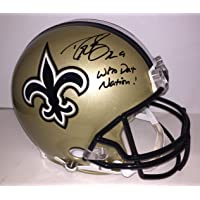 70e21ddb9 Drew Brees Autographed New Orleans Saints Proline Helmet with