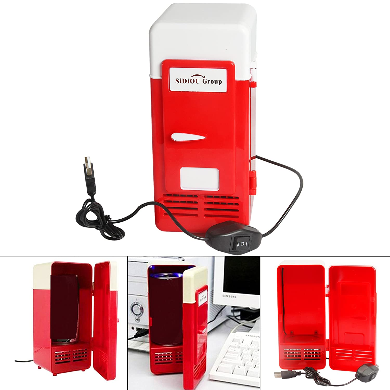 Sidiou Group USB pequeño refrigerador mediano refrigerador del USB mini nevera congelador bebidas de refrigeración y calefacción de doble propósito Nevera portátil (5) SDO-C-500plus