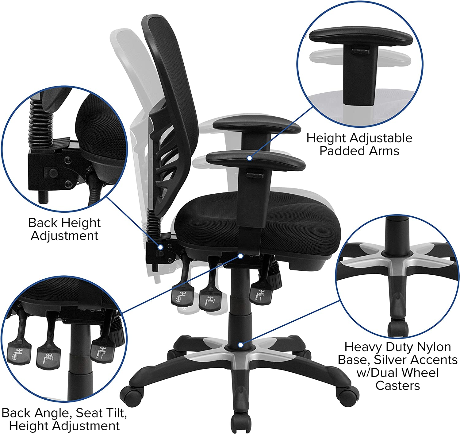 81KDGlTO3LL. AC SL1500 - What Are The Best Chairs For Back Pain At Home - ChairPicks