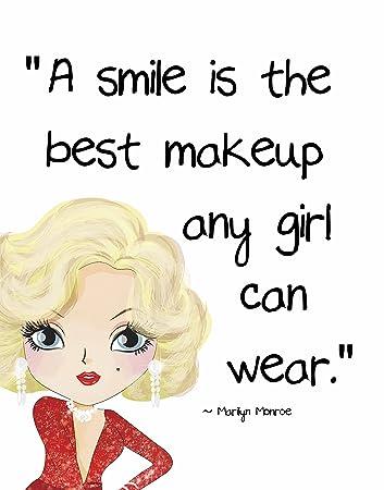 Amazoncom Pop Art Print Marilyn Monroe Beautyfashion Quote A