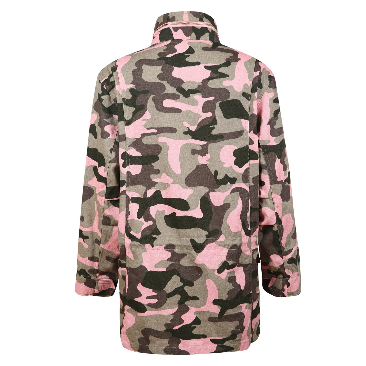 cee362fc4516d Amazon.com  HaoDuoYi Womens Casual Camo Lightweight Zipper Outwear Jacket   Clothing