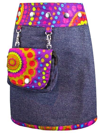 Sunsa chicas falda falda vaquera minifalda falda cruzada falda ...