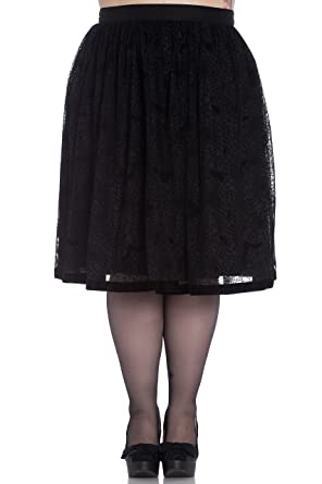 797644bdf8 Hell Bunny Plus Size Gothic Black Spiderweb Bats Halloween Tulle Skirt (2X)