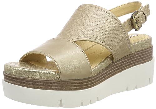 ef553871e7d1 Geox Women  s D Radwa B Platform Sandals  Amazon.co.uk  Shoes   Bags