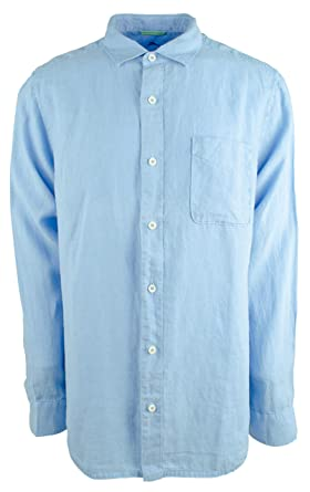 b609631d Tommy Bahama Men's Big Tall Linen Long Sleeve Button-Down Shirt, Blue  Yonder, 3X-Large at Amazon Men's Clothing store: